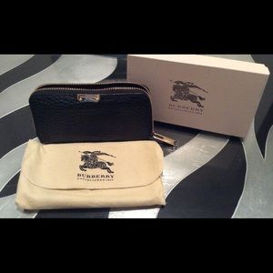 Black Leather Burberry Wallet